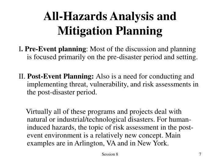 All-Hazards Analysis and Mitigation Planning