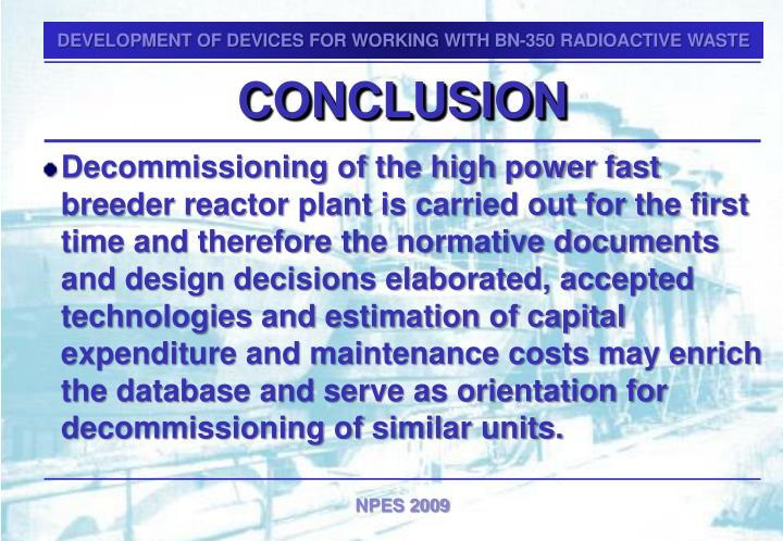 DEVELOPMENT OF DEVICES FOR WORKING