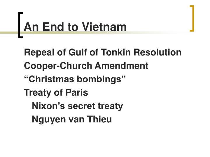 An End to Vietnam