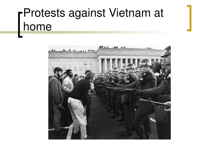 Protests against Vietnam at home