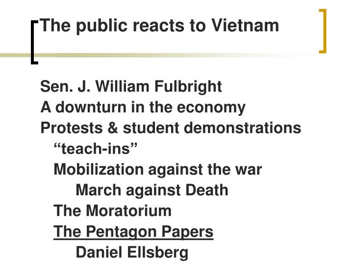 The public reacts to Vietnam