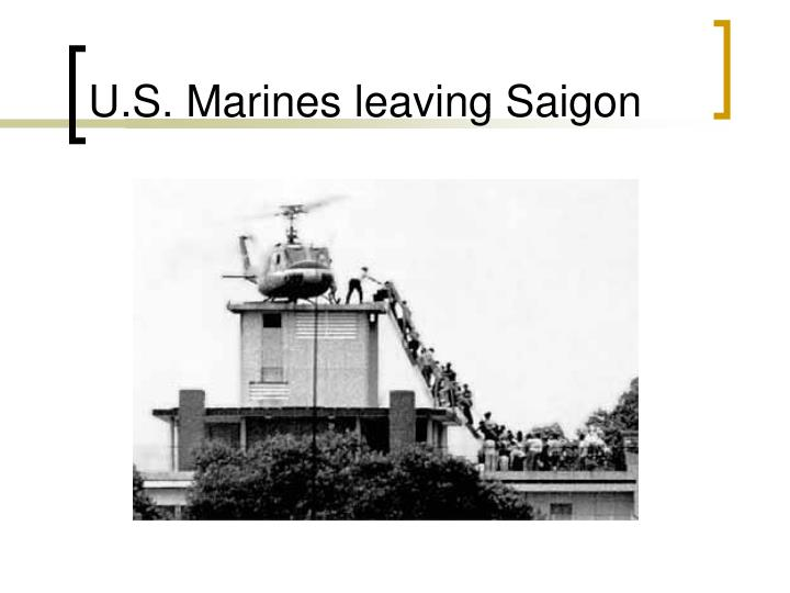 U.S. Marines leaving Saigon