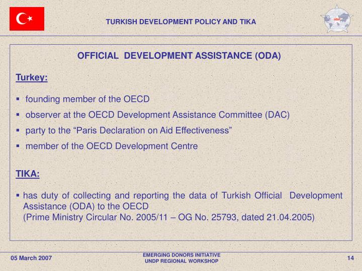 TURKISH DEVELOPMENT POLICY AND TIKA