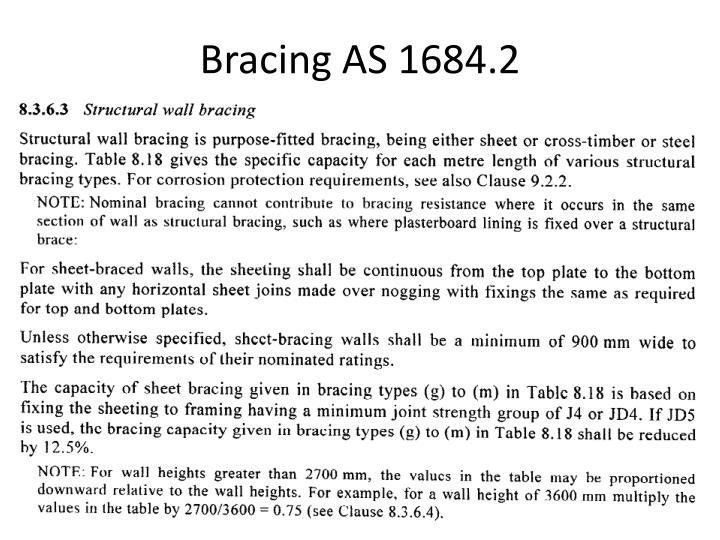 Bracing AS 1684.2