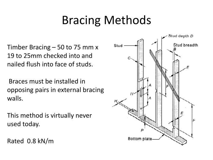 Bracing Methods