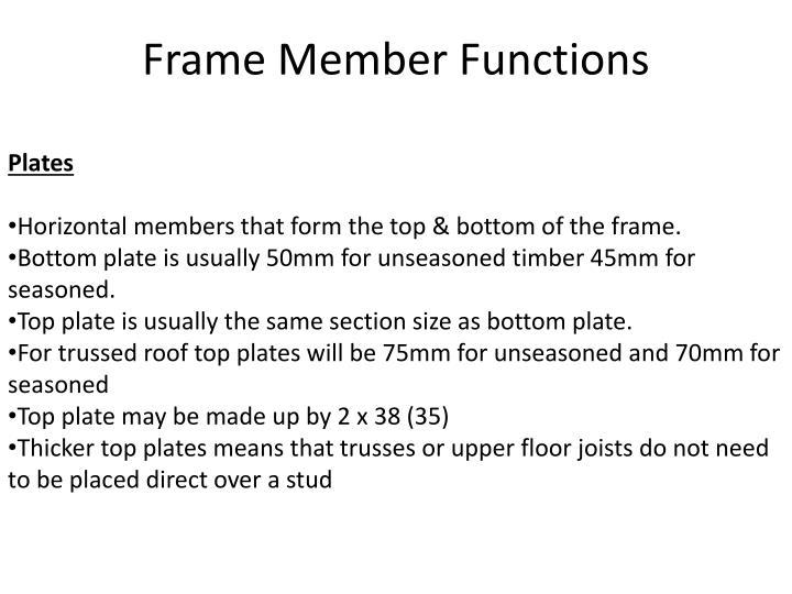 Frame Member Functions