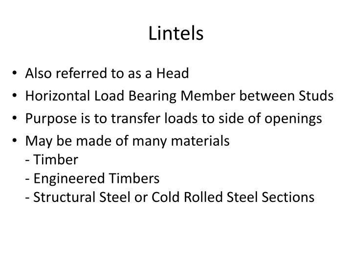 Lintels