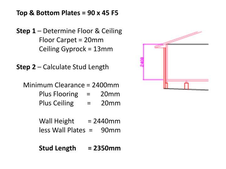 Top & Bottom Plates = 90 x 45 F5