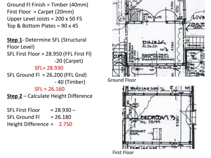Ground Fl Finish = Timber (40mm)