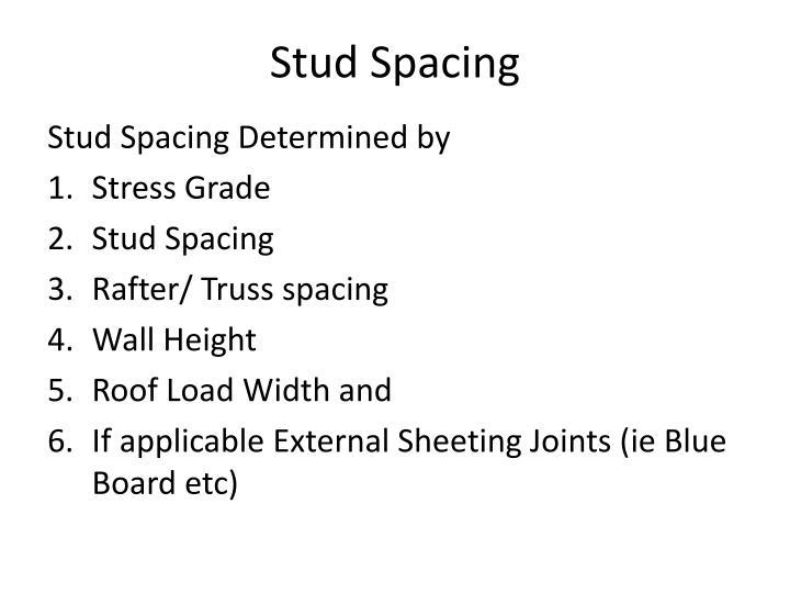 Stud Spacing