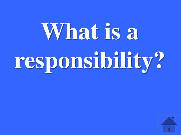 What is a responsibility?