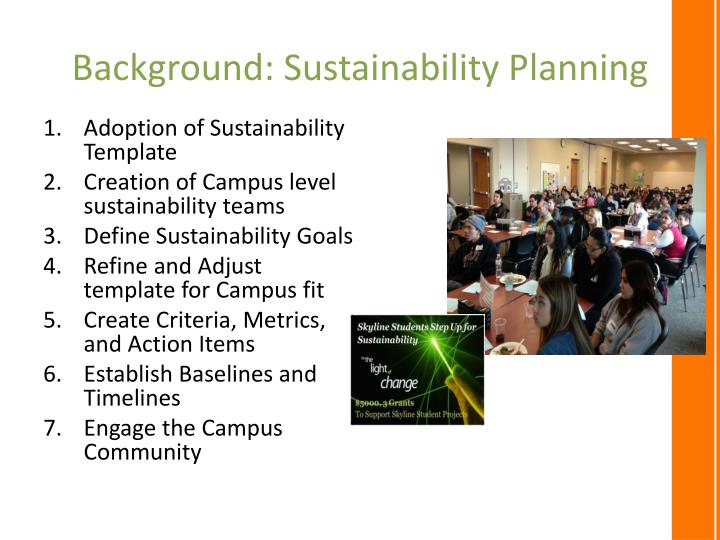 Background: Sustainability Planning