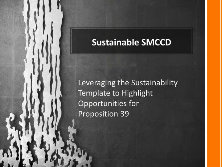 Sustainable SMCCD