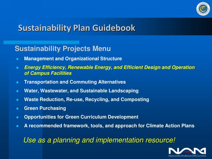 Sustainability Plan Guidebook