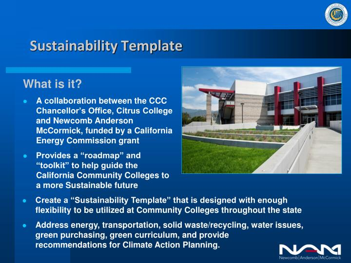 Sustainability template