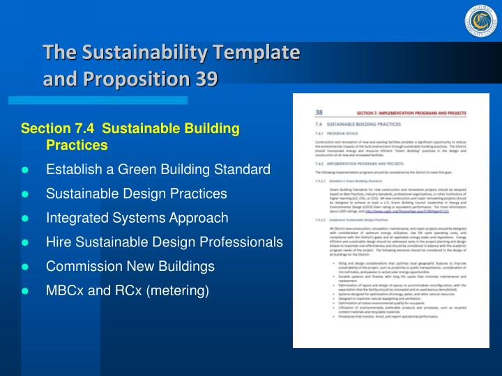 The Sustainability Template
