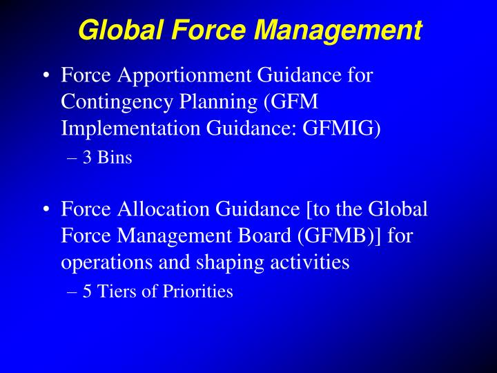 Global Force Management