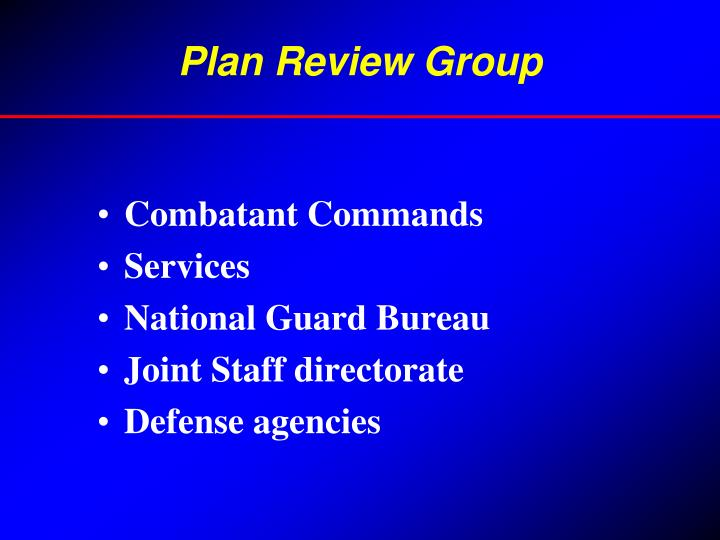 Plan Review Group