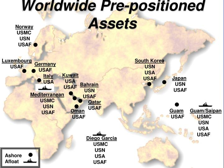 Worldwide Pre-positioned Assets