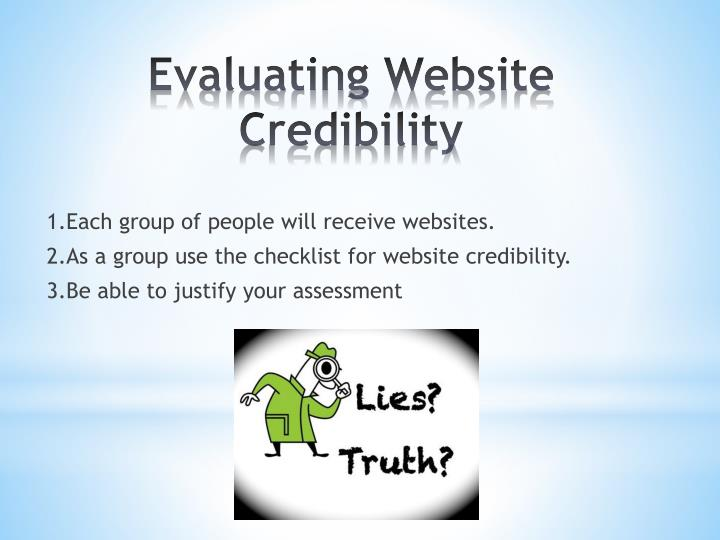 1.Each group of people will receive websites.
