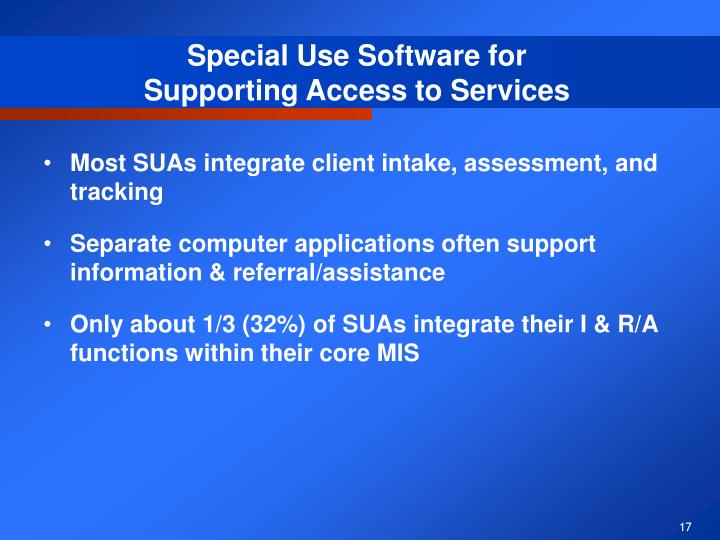 Special Use Software for