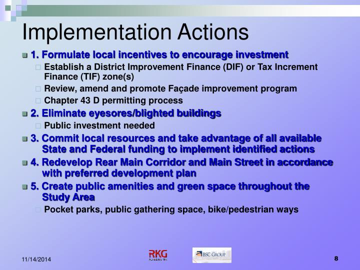 Implementation Actions