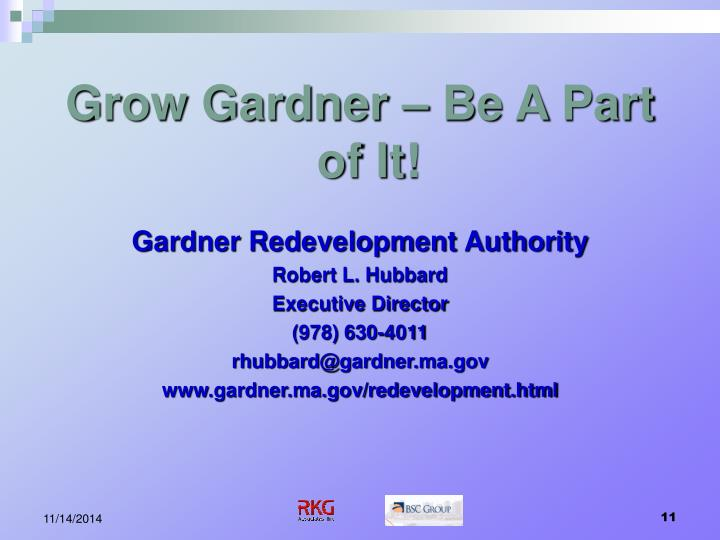 Grow Gardner – Be A Part of It!