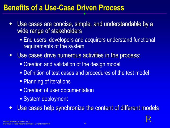 Benefits of a Use-Case Driven Process
