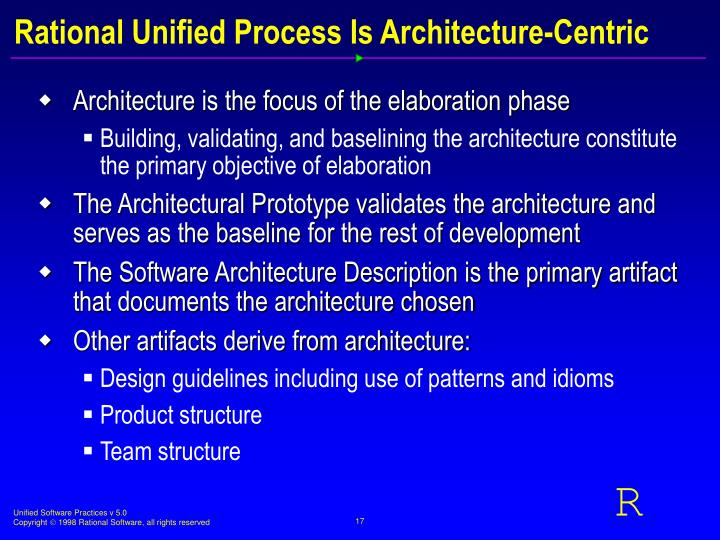 Rational Unified Process Is Architecture-Centric
