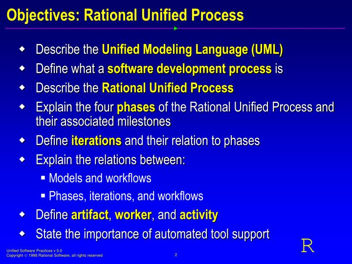 Objectives: Rational Unified Process