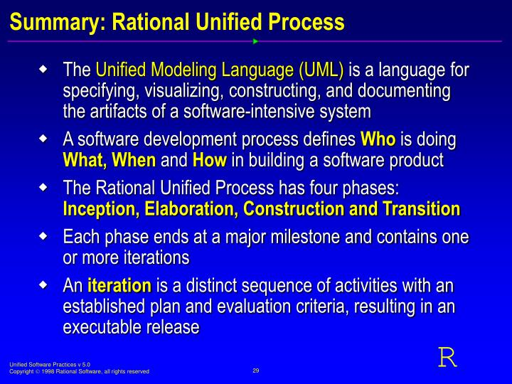 Summary: Rational Unified Process