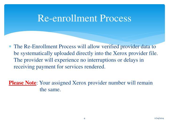 Re-enrollment Process