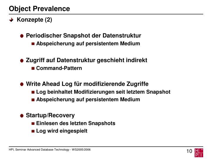 Object Prevalence