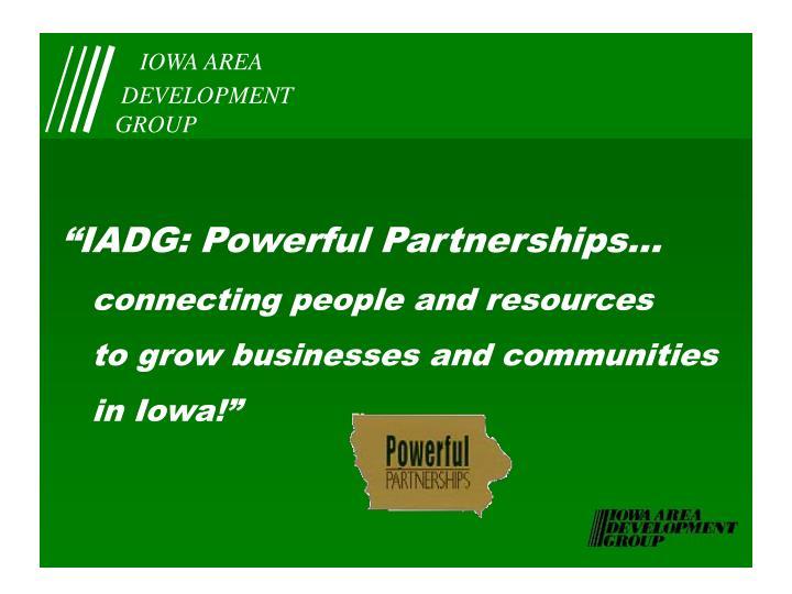 """IADG: Powerful Partnerships..."