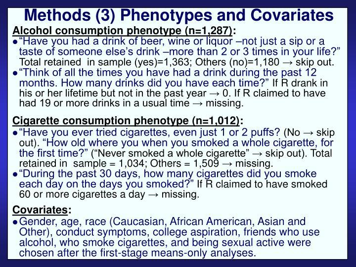 Methods (3) Phenotypes and Covariates