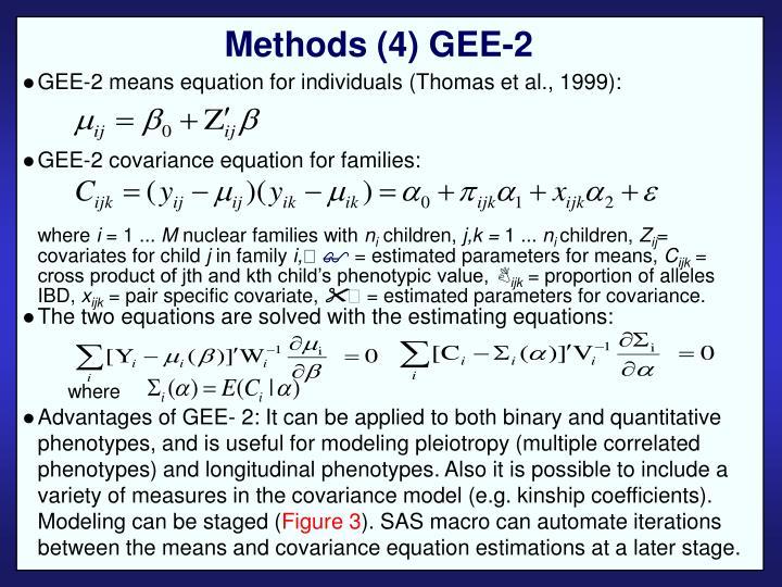 Methods (4) GEE-2