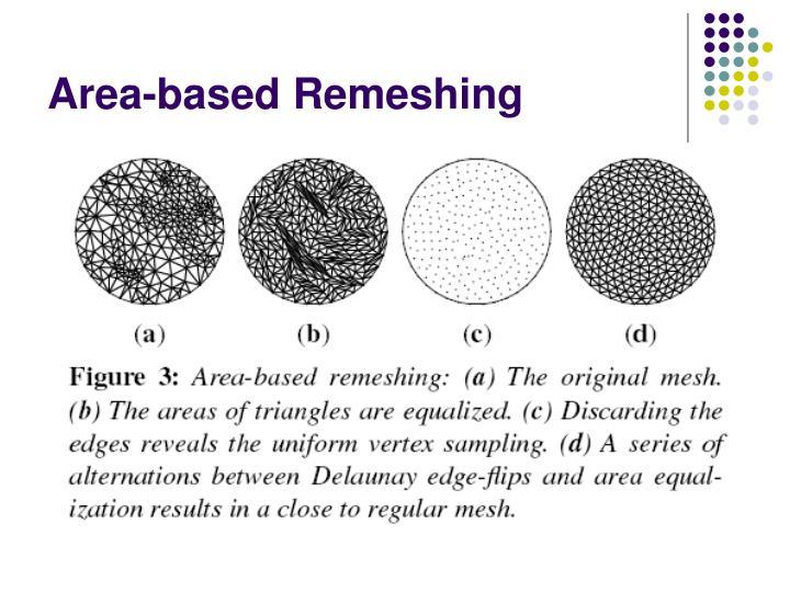 Area-based Remeshing