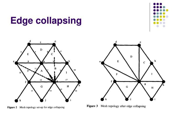 Edge collapsing
