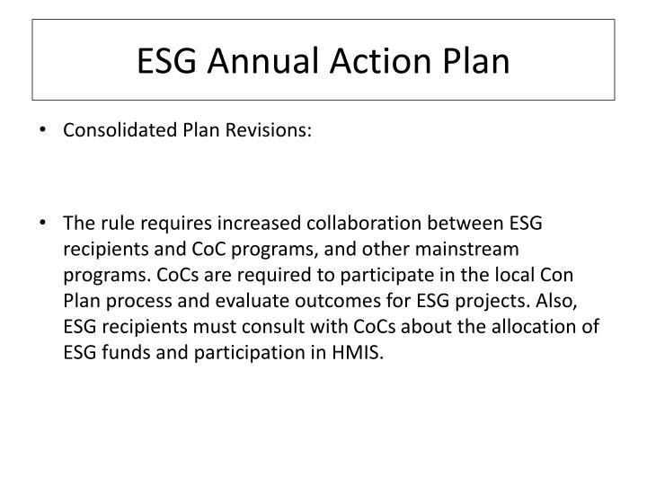 ESG Annual Action Plan
