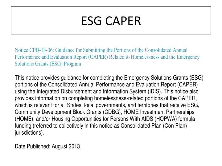 ESG CAPER