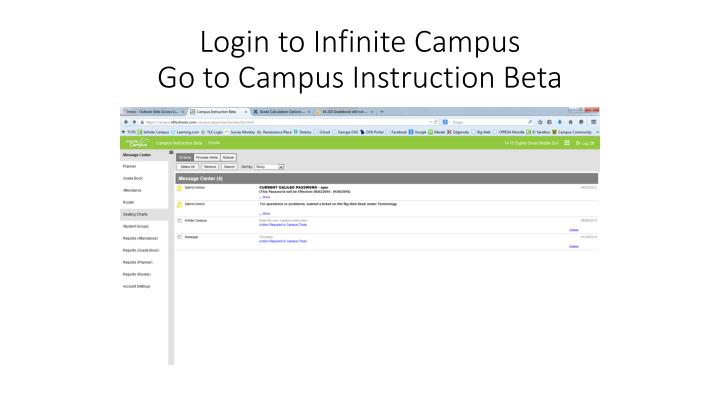 Login to Infinite Campus