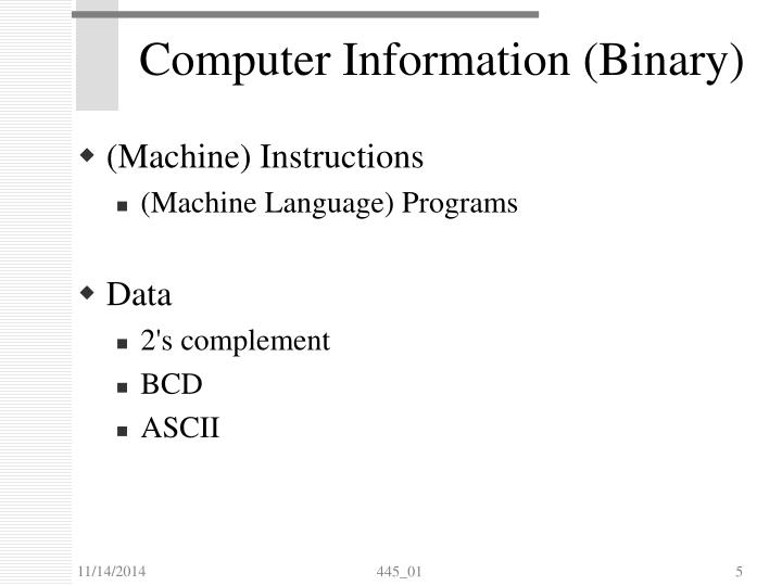 Computer Information (Binary)
