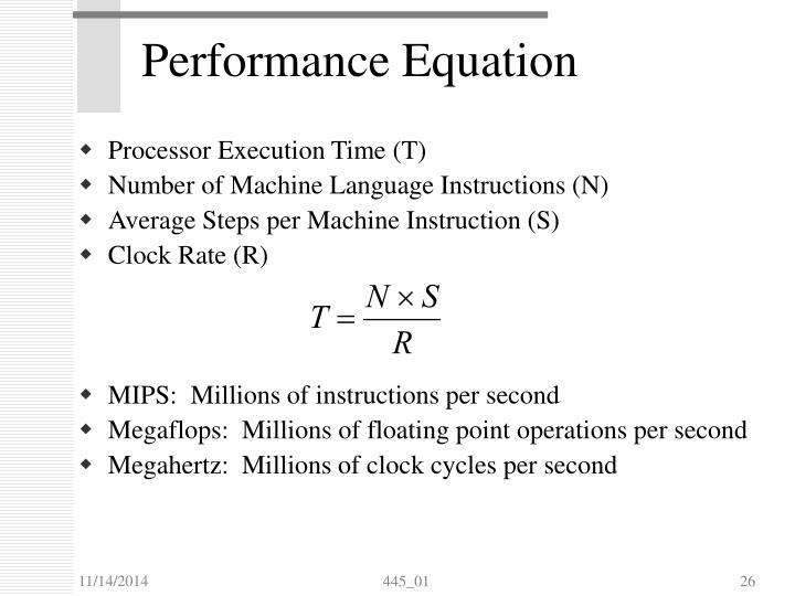 Performance Equation