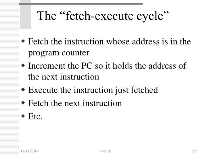 """The """"fetch-execute cycle"""""""