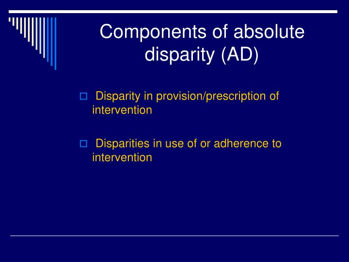 Components of absolute disparity (AD)