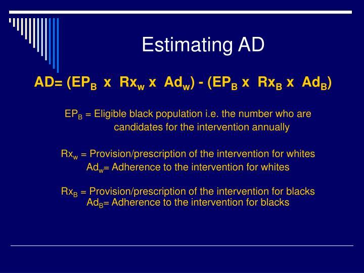 Estimating AD