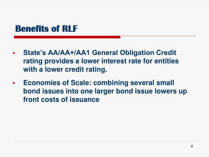 Benefits of RLF