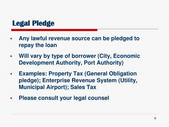 Legal Pledge