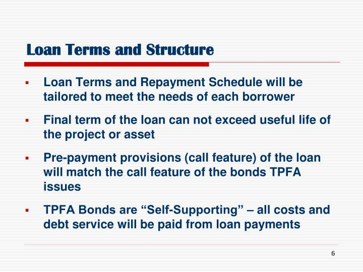 Loan Terms and Structure