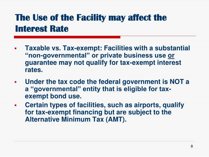 The Use of the Facility may affect the  Interest Rate